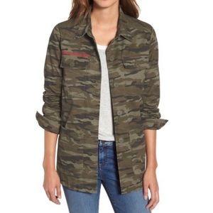 Caslon Green Camo Print Lightweight Jacket